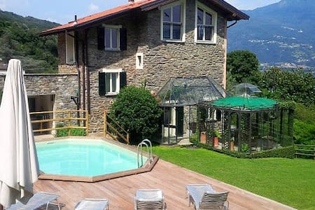 Cosy and comfortable villa with pool and lakeview! - Santa Maria Rezzonico