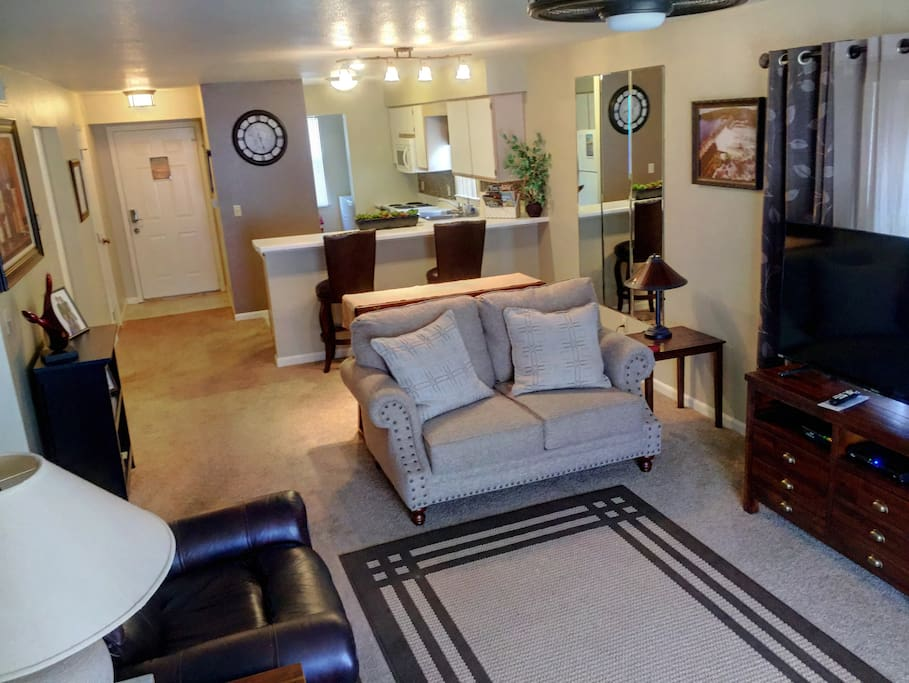 Spacious family room with ground floor entry