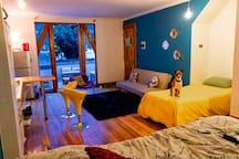 """This little but comfortable space is in the middle of """"Cerro Alegre"""" the most colorful site in valparaiso, near restaurants and art stores. the place is pet friendly"""