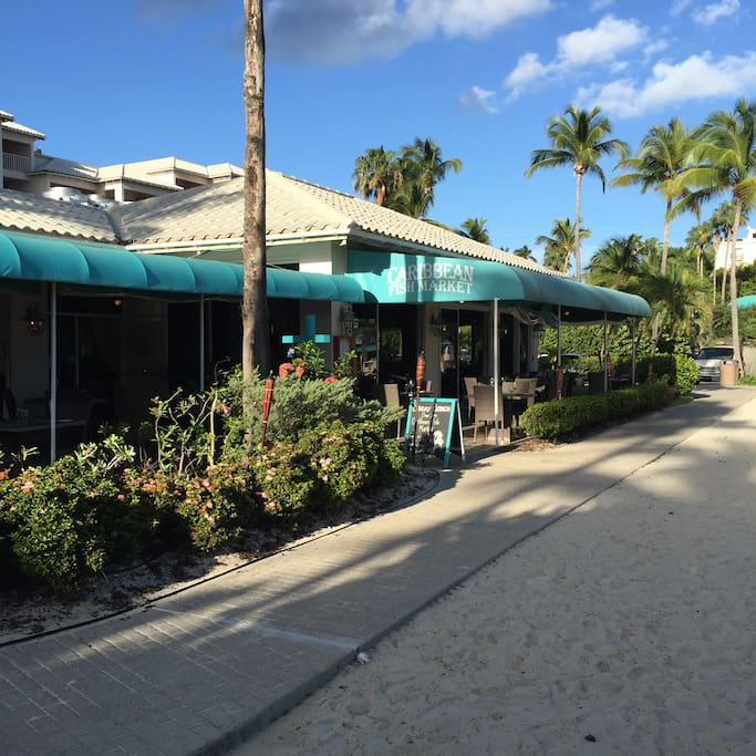 Caribbean Fish Market Restaurant on the beach