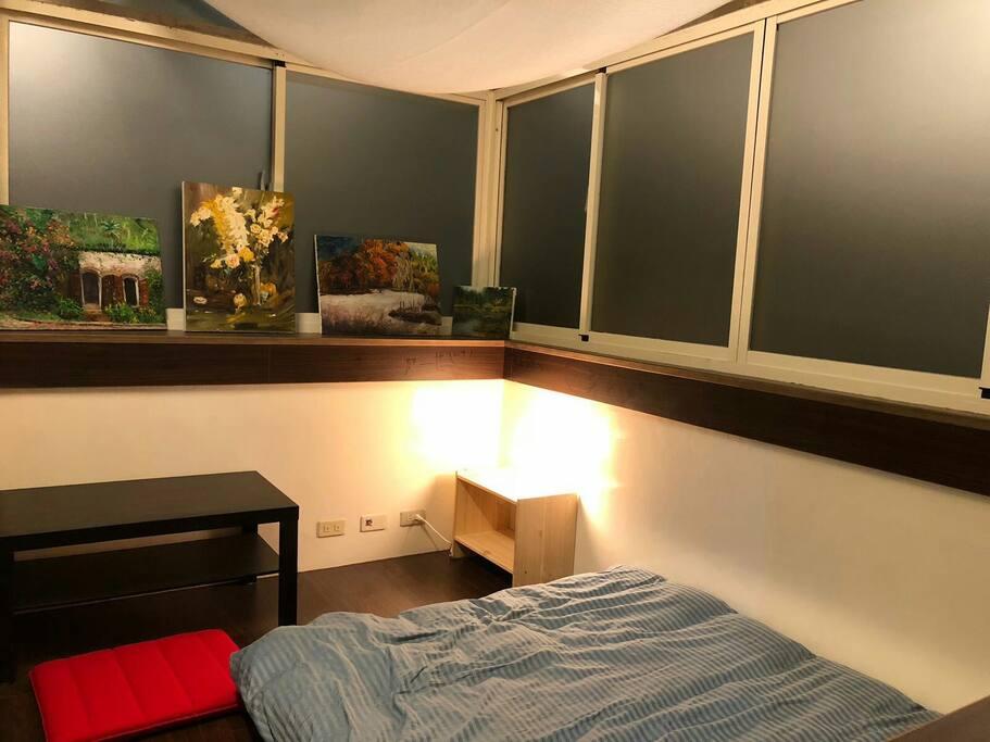 半開放式的房間
