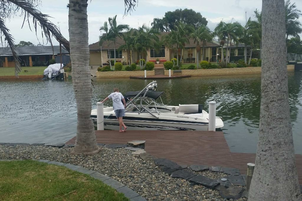 ...boat access at wharf for your boat