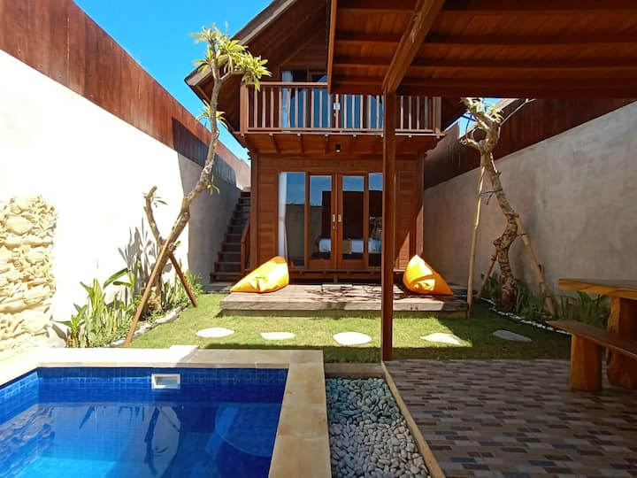 modern wooden house 2 Br with private pool #A