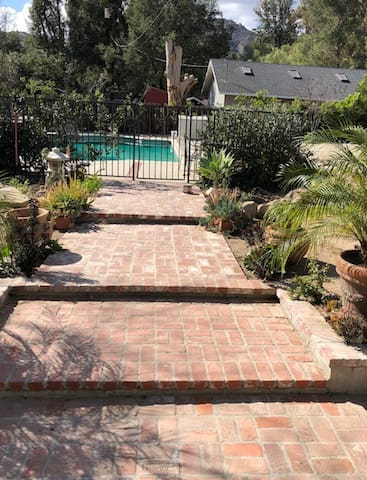 Walkway to pool from guest room