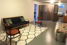 Extra seating area in the basement.