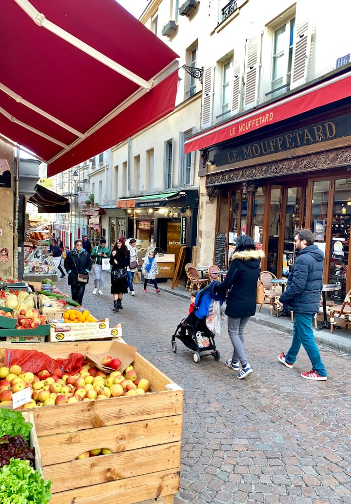 Walk the famous food streets of Paris