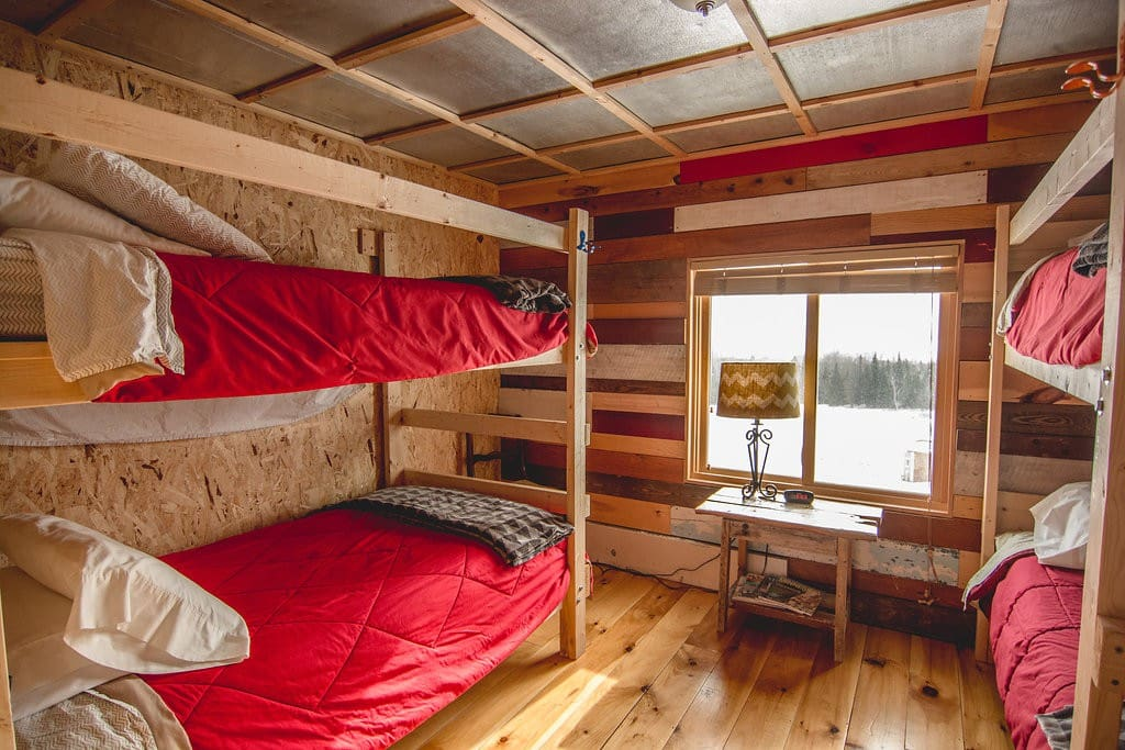 Sleeps up to 4 guests with 2 sets of bunks.