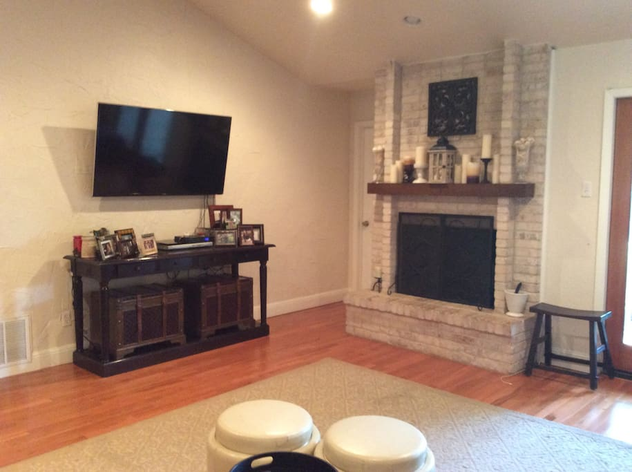 Large living space with smart tv