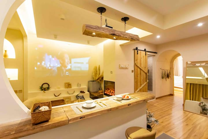 【四季·冬至】索菲亚中央大街哈站^_^百寸投影·可做饭1室1厅可住4人