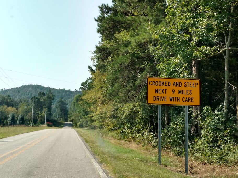 Crooked and steep, all the way to a remote retreat in the Ouachita National Forest.