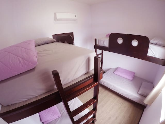 Single bed in Dormitory 4-Bed Shared Bathroom
