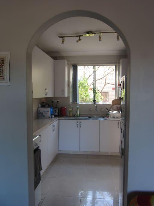 Kitchen, leafy view