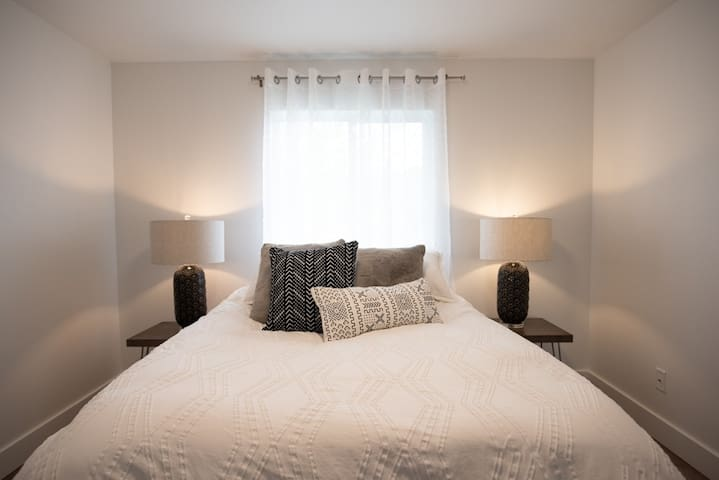 Bedroom 1 houses a comfy down feather bed. Our reviews speak for themselves. Our guests love comfy beds.