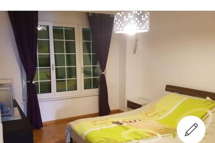 Grande chambre dans appartement très calme.