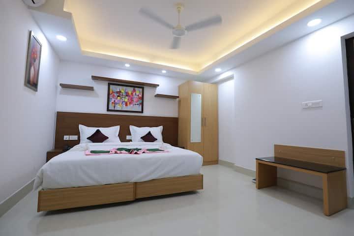 Premium Room at Swades Myhome Dharmalayam Road Nr Ayurveda College Manjalikulam Thiruvananthapuram Kerala I