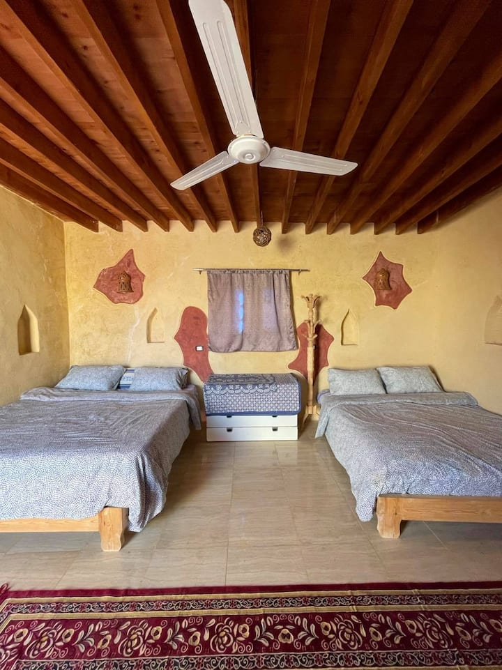 Accommodation with a  Horse Stable in the Desert