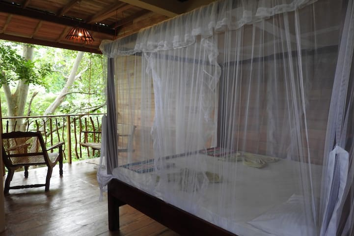 Wood cabana with riverview 1