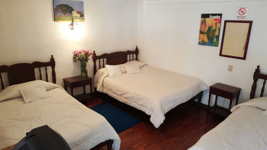 Triple Room share bathroom near the train. - Alausi - Pousada