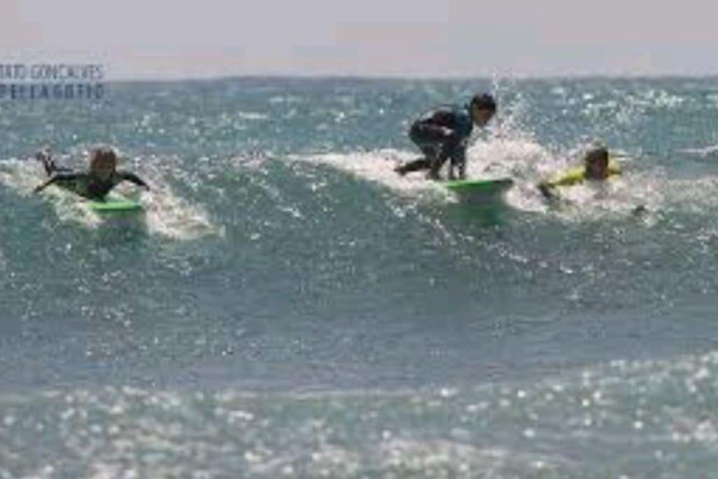 playa de La Laja para practicar deportes acuáticos.