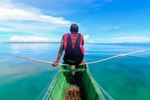 Boat trip to opposite, Dako, island