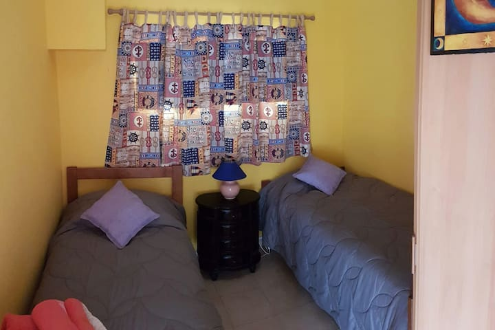 Bedroom 2 in the 2 bedroom apartment single beds perfect for the kids!