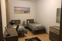 Private twin bedroom in St Julians