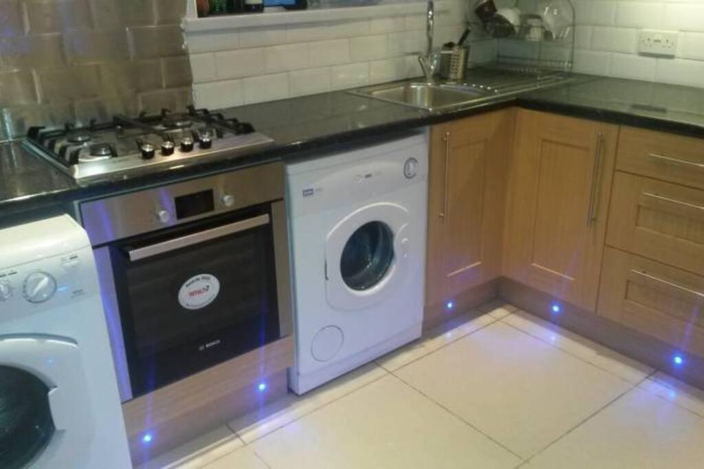 The reinovated kitchen