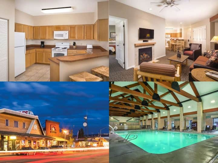 West Yellowstone 2 Bed/2 Bath Condo -Pool-Hot Tub