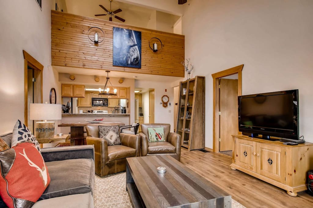This Unit has a Lovely Open Plan and Contemporary Furnishings with a Rustic Feel
