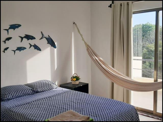 Habitación cómoda para vacacionar