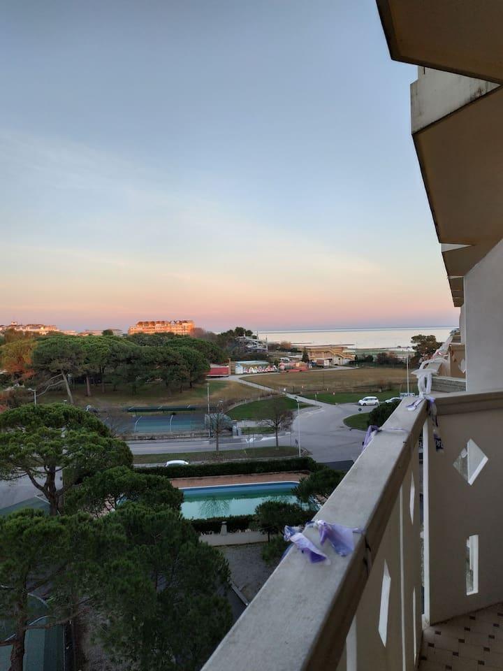 Vista mare dal terrazzo dell'appartamento