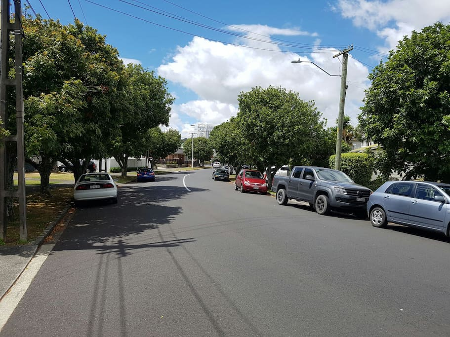 Eden Park stadium at the end of the street (1 minute walk)