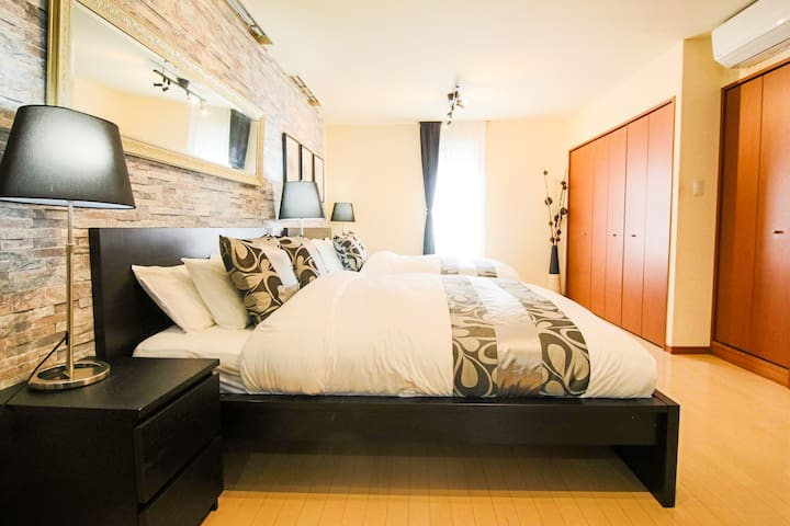 GR201 3min Sta|2Queen Bed, Best for family trip