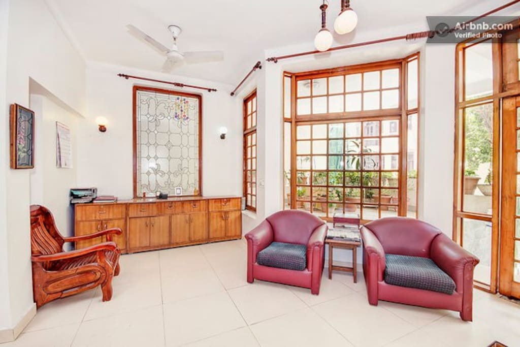 Spacious & airy lobby on the ground floor is a welcome break from the confines of the rooms.