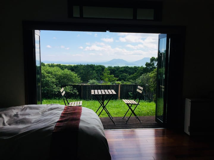 Sweet room with mountain view