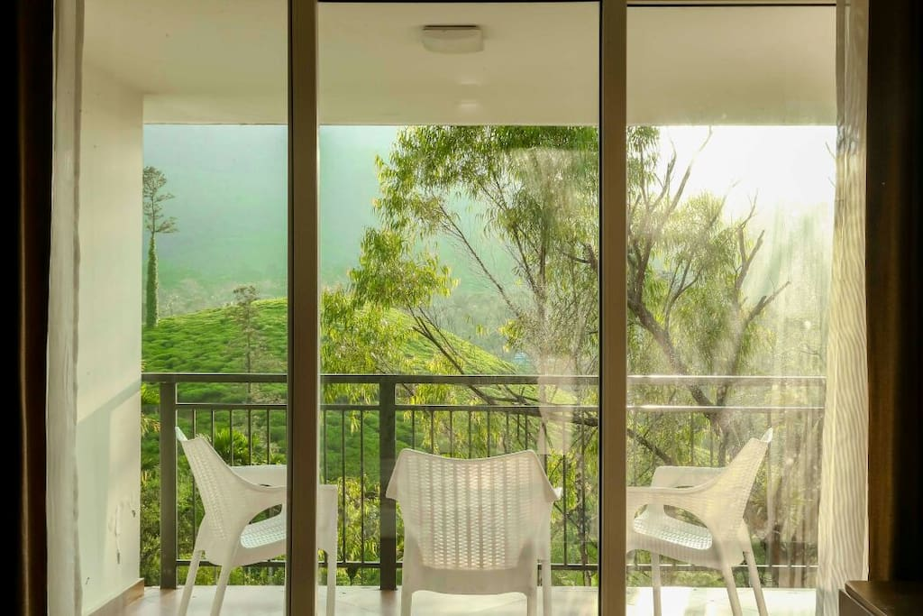 The French windows allow lot of light and fresh air to the rooms
