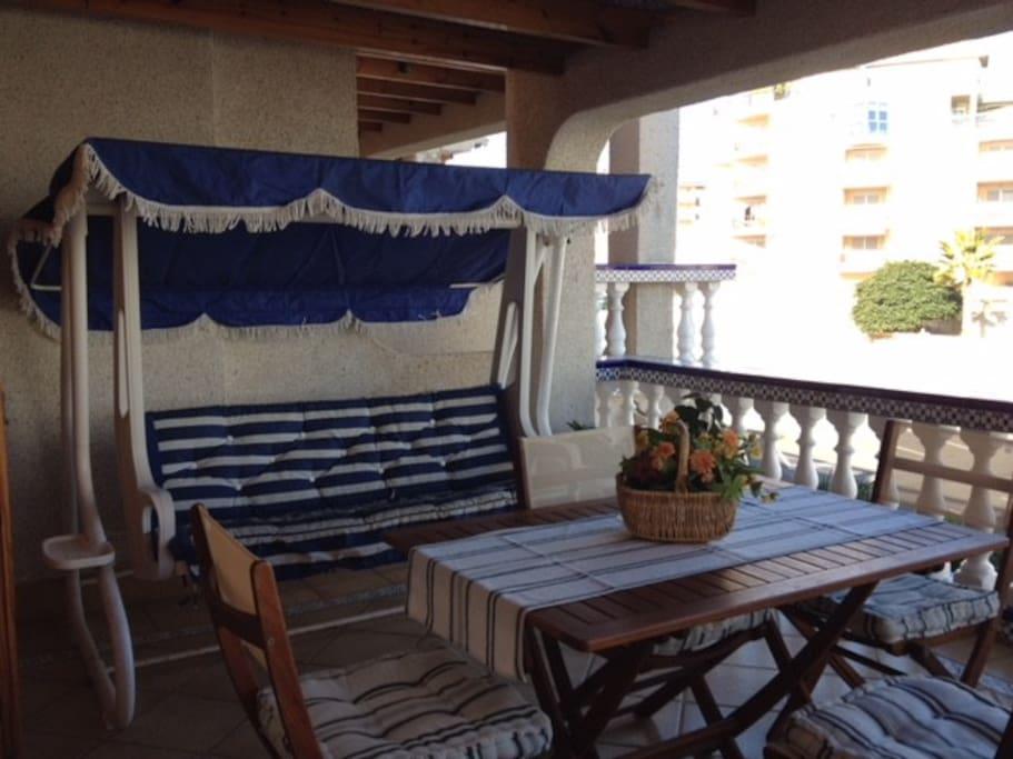 Terraza cubierta ideal para el verano