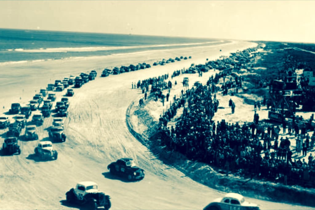 First Speedway on Beach. Believe here on corner is where finish line is. Currently my bldg is there next to Rockefeller blvd who was a race supporter!!