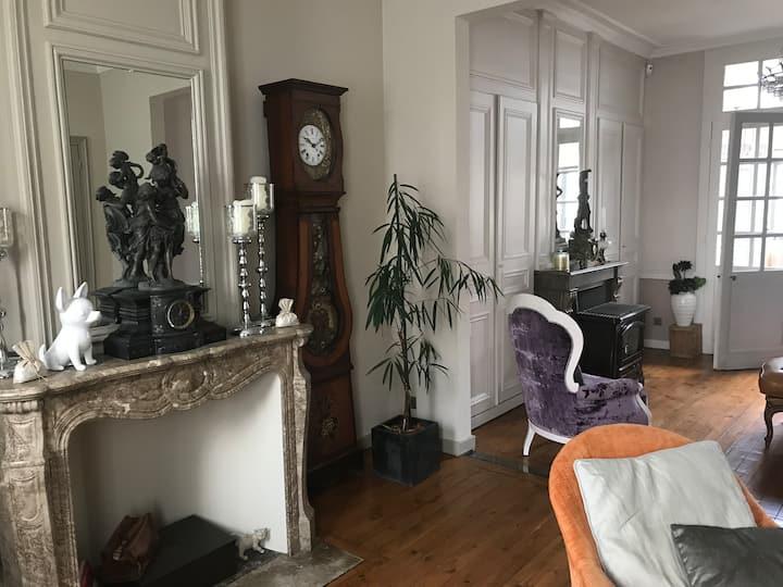 Chambre double dans une maison typique de Lille