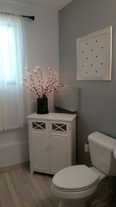 Completely remodeled private bathroom
