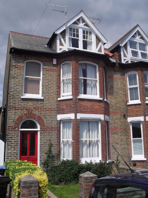 A Victorian semi detached house.
