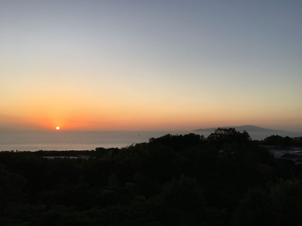 Magical sunrise view from Masaya Villa greets everyone good morning. This photo was taken during the sakura season, but seeing such beauty depends on the season, and weather conditions.