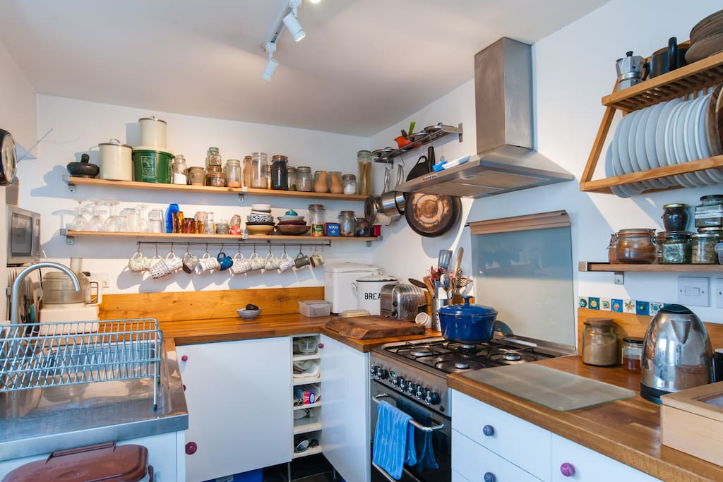 Our small but perfectly formed kitchen. You are welcome to come and make yourself a hot drink or a simple snack
