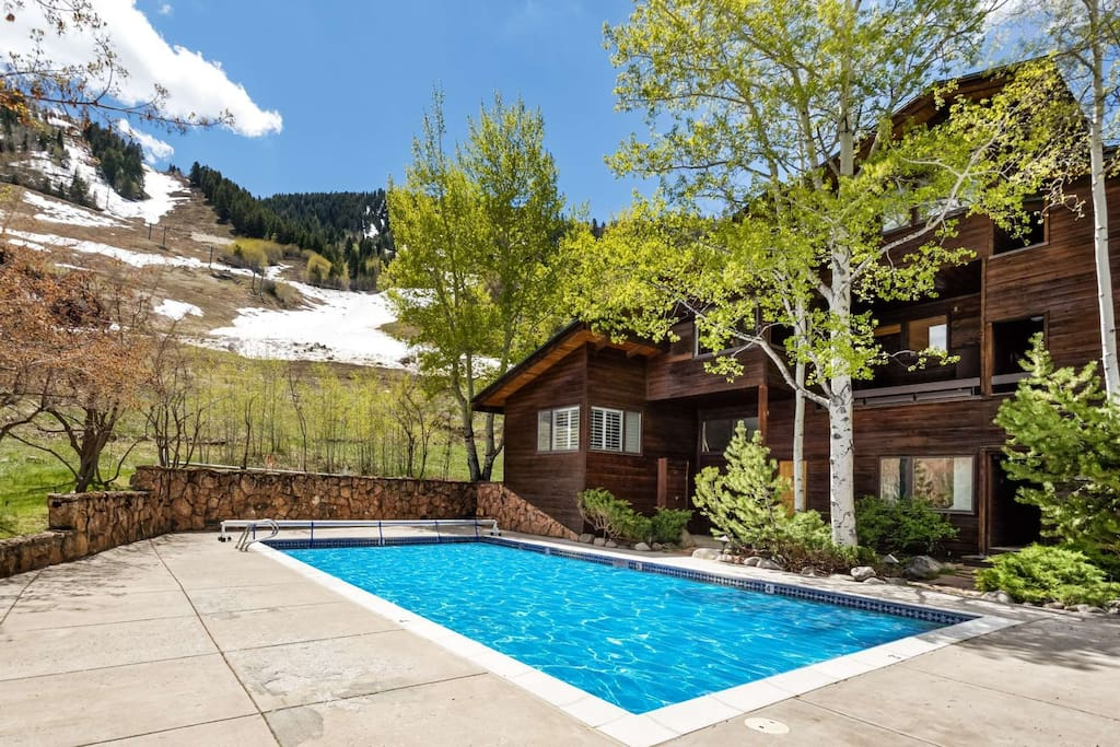 Your group will enjoy this beautiful mountain side pool, open in the summer only!