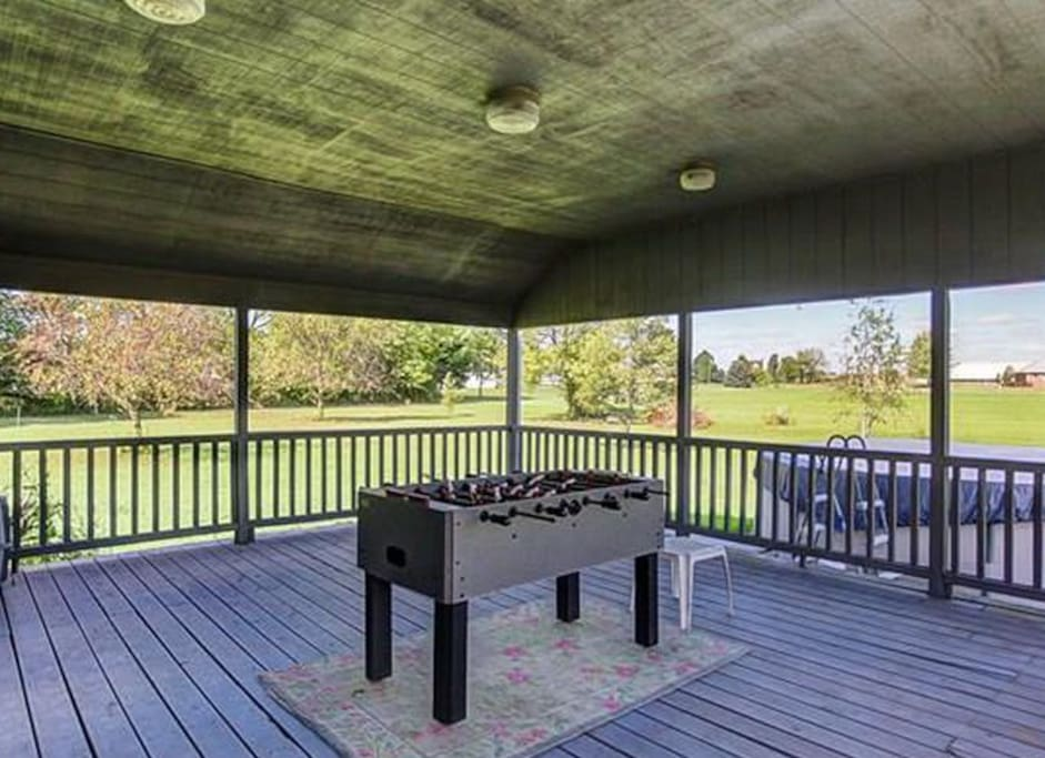 Large covered back porch is perfect or entertaining