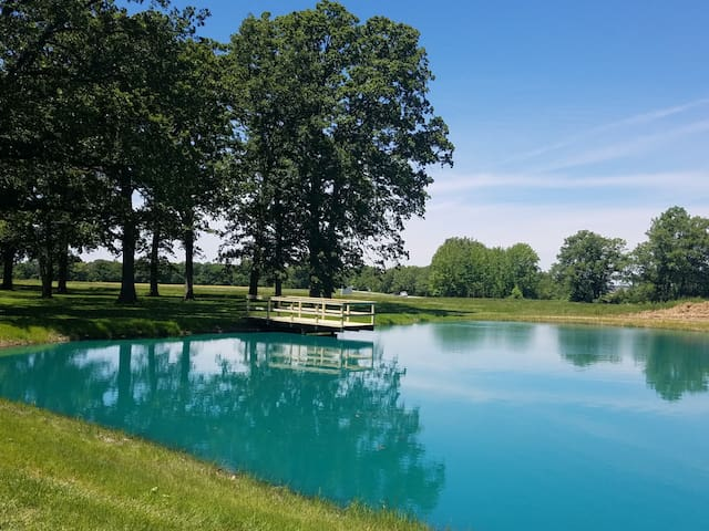 Nice pond and 5 acres for your enjoyment.