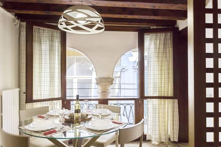 Rialto Corte del Sansoni - canal view, 2 bedroom