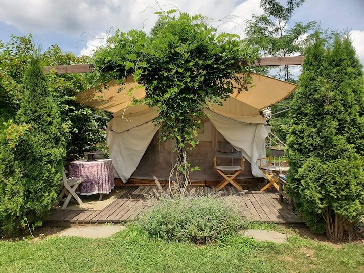Scottland Yard Farm- Wisteria- Glamping Tent