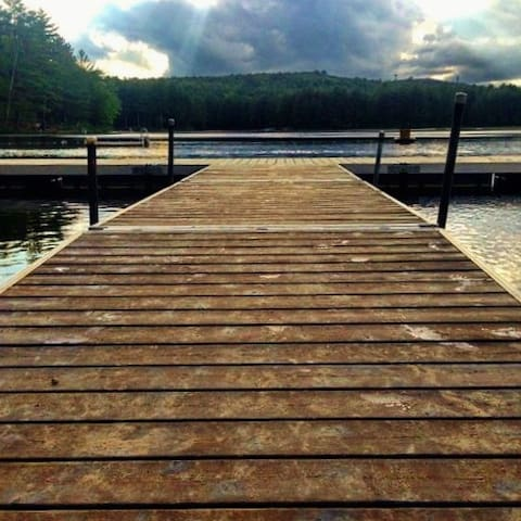 Summer dock on Moores Pond.
