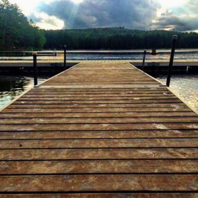 Summer dock on Moores Pond.